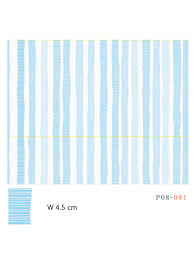 Stip Blue Graphic Pattern Wallpaper And Fabric