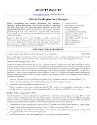 Food Service Manager Resume Custom Food Service Management Resume Food Service Manager Resume Sample