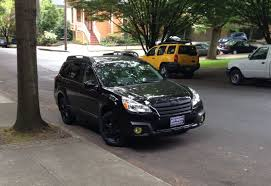 2013 Subaru Outback Fog Lights Yellow Fog Lights Look Sick On This Blacked Out Outback