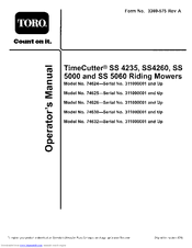 toro timecutter ss 5000 manuals manuals and user guides for toro timecutter ss 5000 we have 6 toro timecutter ss 5000 manuals available for pdf operator s manual