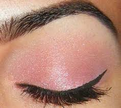 shimmery pink shadow