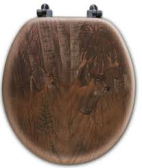 Toilet Seat, Elongated, Play the Wind - Rustic - Toilet Seats - by  WGI-GALLERY