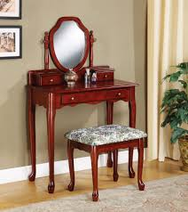 Elegant Bedroom Vanity Furniture Lovely Shape Swivel Mirror