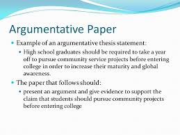 thesis statements a how to ppt video online argumentative paper example of an argumentative thesis statement