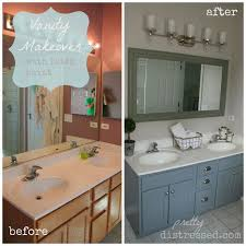 painting bathroom vanity before and after. bathroom oak vanity makeover with latex paint, ideas, painted furniture painting before and after f