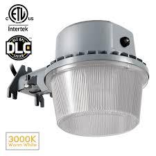 dusk to dawn led outdoor barn light photocell included 35w 250w equiv 3000k warm white 5000k daylight 3500lm floodlight dlc etl listed yard light