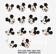 Mickey Mouse vector graphics for silhouette cameo cutter and cricut design  space