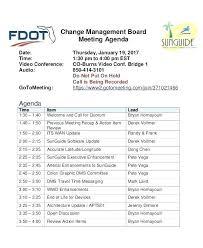 Management Agenda Template Project Management Agenda