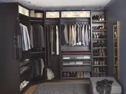 Furniture, Lovely Big U Shape Dark Grey Walk In Closet Ikea Closet Systems  With Full ...