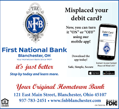 your origina hometown bank first national bank of blanchester blanchester oh