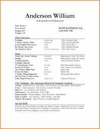 Free Acting Resume Template Theatre Resume Template Sop Proposal 12