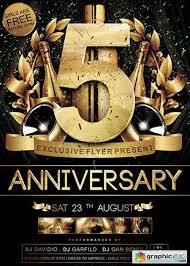 Anniversary V05 Premium Flyer Template Facebook Cover