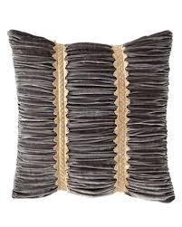 velvet pillow shams.  Pillow Quick Look ProdSelect Checkbox Golden Garden Ruched Velvet European Sham With Pillow Shams V