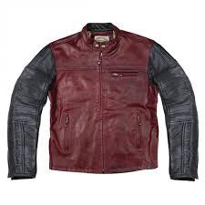 roland sands mens ronin leather jacket oxblood red