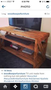 shipping pallet furniture ideas. tv cabinet made from nothing but old shipping pallets stained in maple and finished with danish oil pallet furniture ideas