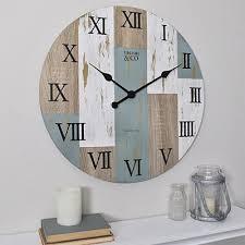 Distressed <b>Timber Planks</b> Clock : <b>Wood</b> | <b>Wall clock</b>, <b>Timber planks</b> ...