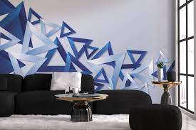 3d Blue Triangles