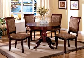 5 pc st nicholas ii in a cherry wood finish round table dining set round cherry coffee table