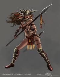 black amazon warrior. Brilliant Warrior Amazon Warrior And Black O