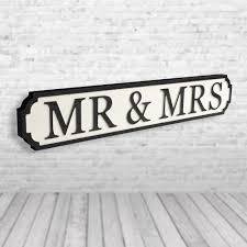 mr mrs vintage road sign street sign