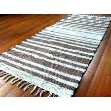 rag rug runner green rag rug handwoven rag rug runner light blue brown green tan friendly