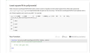 least square fit to polynomial write a function leastsquarefit3pol that solves a linear system of equations