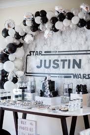 monochromatic star wars birthday party
