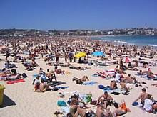 beach. Brilliant Beach Bondi Beach A Popular Beach Area In Sydney Australia Intended Beach