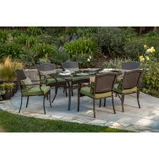 7 piece patio dining set. Buy Better Homes And Gardens Providence 7-Piece Patio Dining Set, Green, Seats 7 Piece Set E