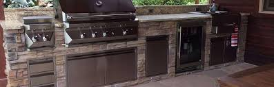 twin eagles grill built into a custom outdoor