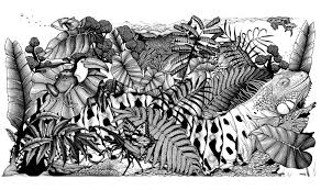 Difficult jungle animals | Animals - Coloring pages for adults ...