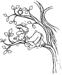 Zacchaeus Jesus Fear Coloring Page | Wecoloringpage