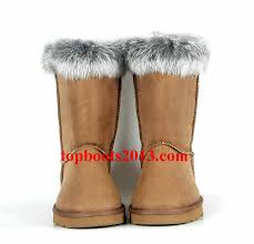 UGGs Wholesale Classic Short 5825 Boots Chestnut Fox Fur ...