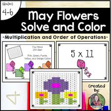 May Flowers Solve And Color Multiplication And Order Of Operations
