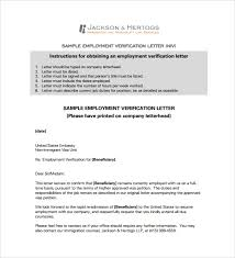 Letterhead For Employment Employment Verification Letter 14 Download Free Documents In Pdf