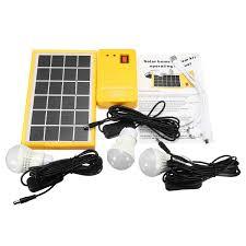 Solar Charging Light Solar Power Panel Generator Kit 5v Usb Charger Home System With 3 Led Bulbs Light