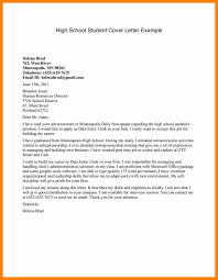Student Cover Letter For Resume 100 high school student cover letter resume type 84