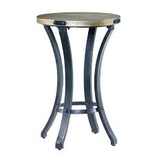 hammary treasures round accent table in black brown