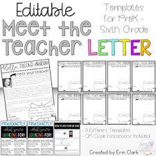 Meet The Teacher Letter Templates Editable Meet The Teacher Letter With Qr Code Option