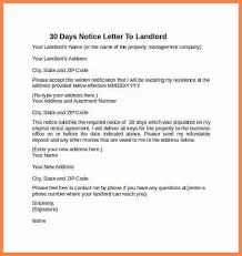 30 Day Notice To Landlord Letter Format | Textpoems.org