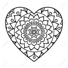 Kleurplaten Harten Mandala