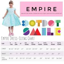 Dot Dot Smile Size Chart Dot Dot Smile Empire Dress Sizing Styling Direct Sales