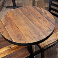 The medium density fibreboard (mdf) is a solid solution for an individual table top and can be finished with your choice from a diverse selection of ral. Reclaimed Round Wood Table Tops Restaurant Cafe Supplies Online