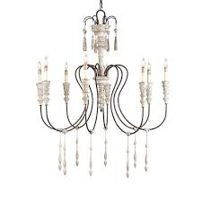 currey u0026 company hannah stockholm whiterust eightlight medium chandelier white wood chandelier h41