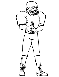Nfl Football Player Coloring Pages For Kids Coloringstar