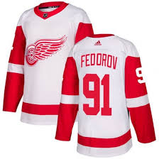 Detroit Authentic Jersey Sergei Fedorov White Away Wings Red Women's Adidas - Baltimore Ravens Outlook