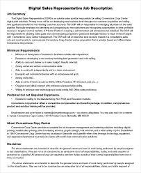 11+ Sales Job Description Templates - Pdf, Doc | Free & Premium ...