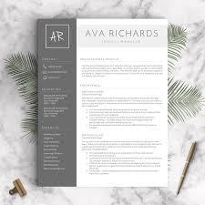 Richards Resume Modern Resume Template For Pages Resume Examples Resume Template
