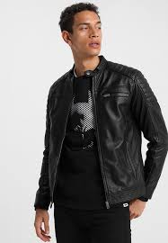 slhjack leather jacket black