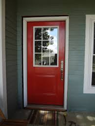glass front door designs. Small Red Front Door Design In Traditional Ideas Made From Wooden Material Completed With Glass Combination Designs